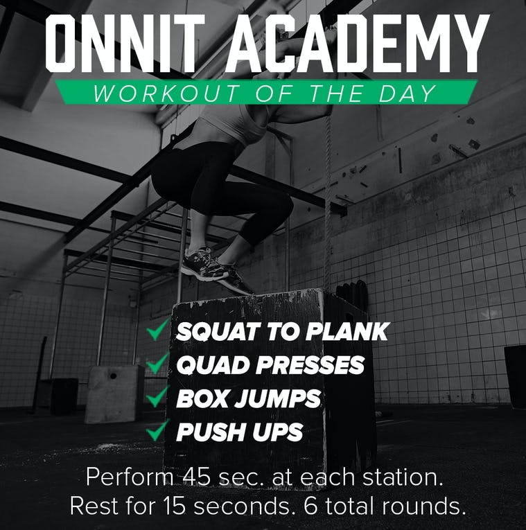 Onnit Academy Workout Of The Day #9
