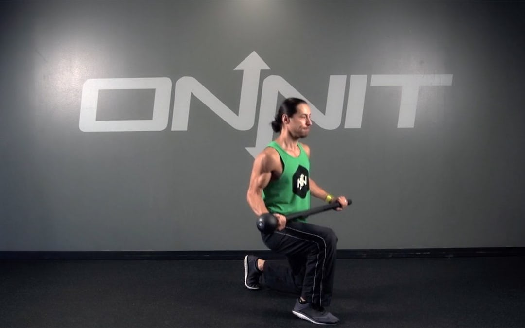 Alternating Switch Lunge Steel Mace Exercise
