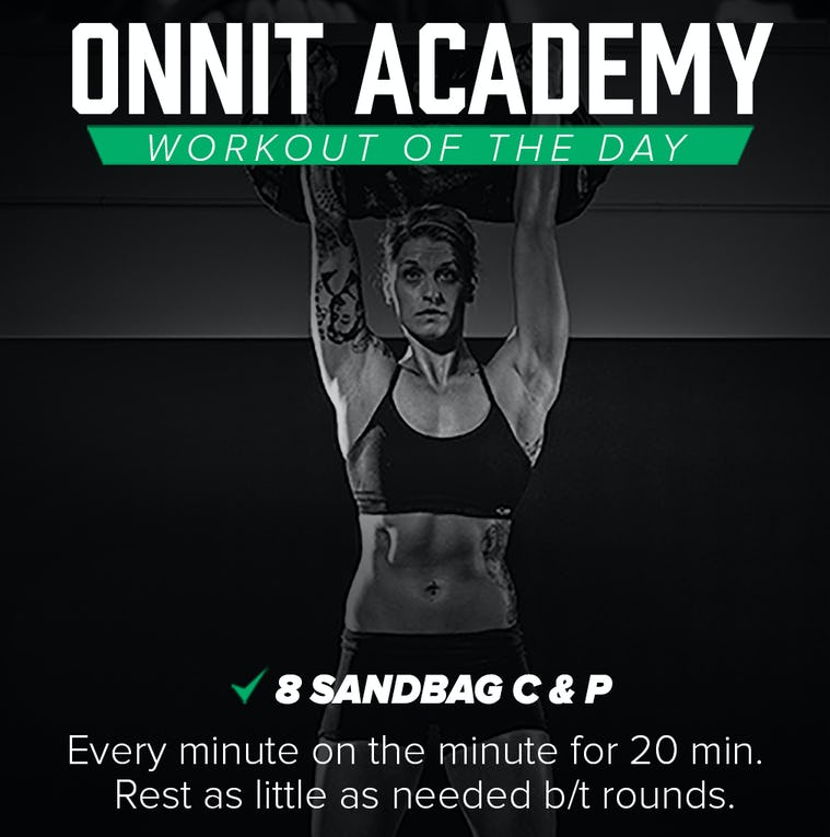 Onnit Academy Workout of The Day #24 - Sandbag Workout