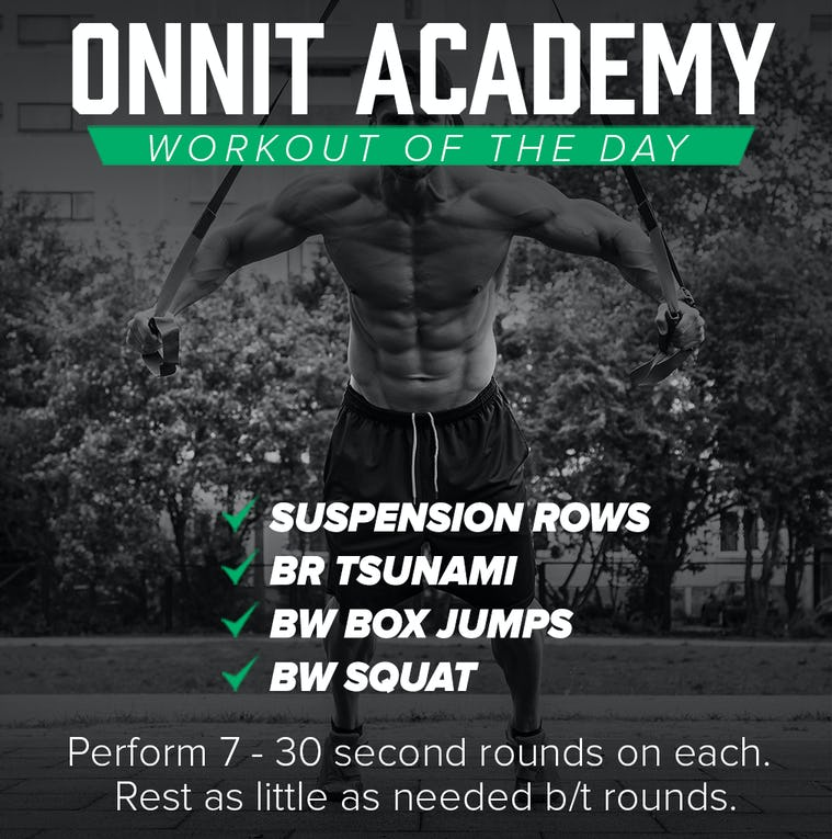 Onnit Academy Workout of The Day #22 - Battle Ropes, Suspension Trainer & Bodyweight Workout