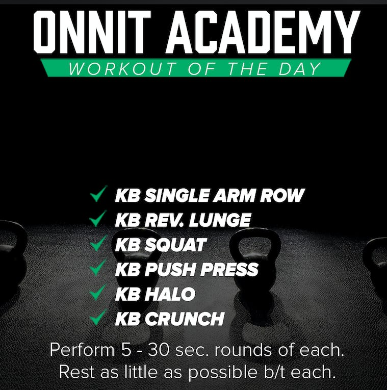 Onnit Academy Workout Of The Day #37