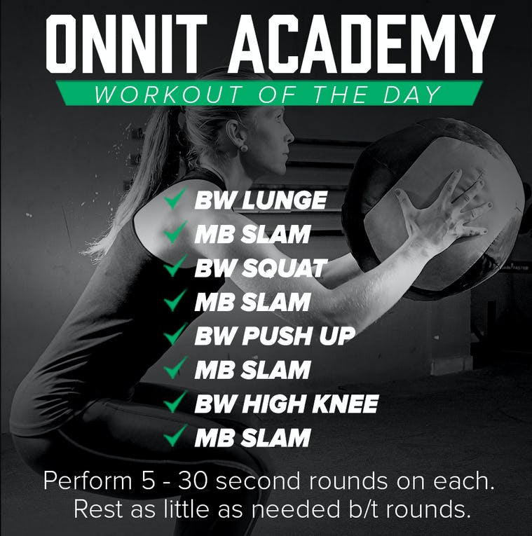 Onnit Academy Workout of The Day #21 - Medicine Ball & Bodyweight Workout