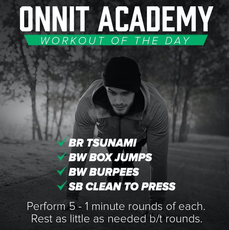 Onnit Academy Workout Of The Day #34
