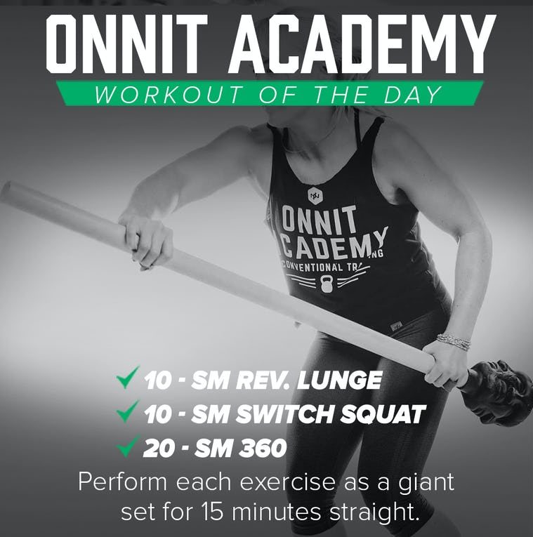 Onnit Academy Workout of the Day #40 - Steel Mace Workout