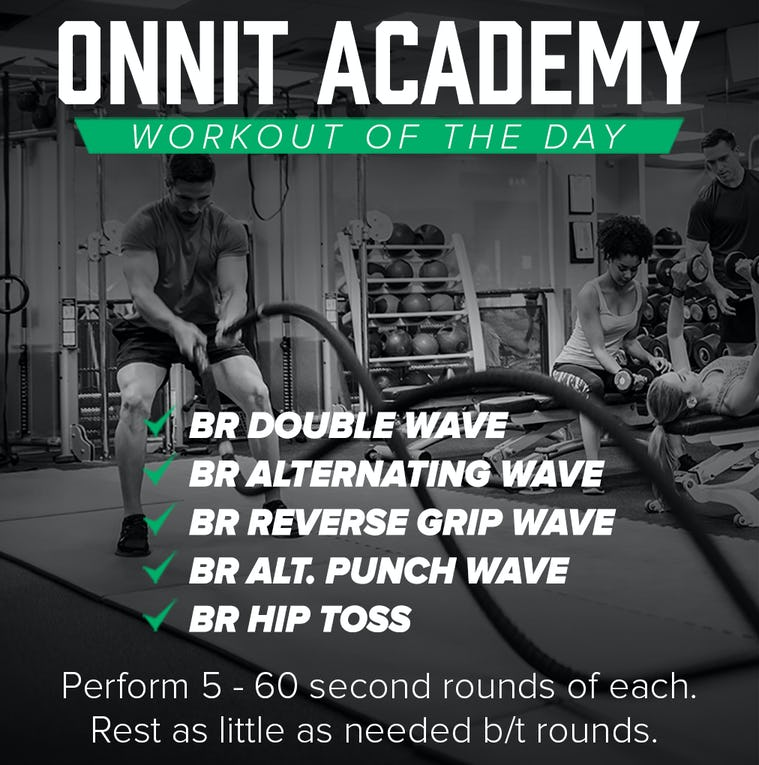 Onnit Academy Workout of the Day #45 - Battle Ropes Workout
