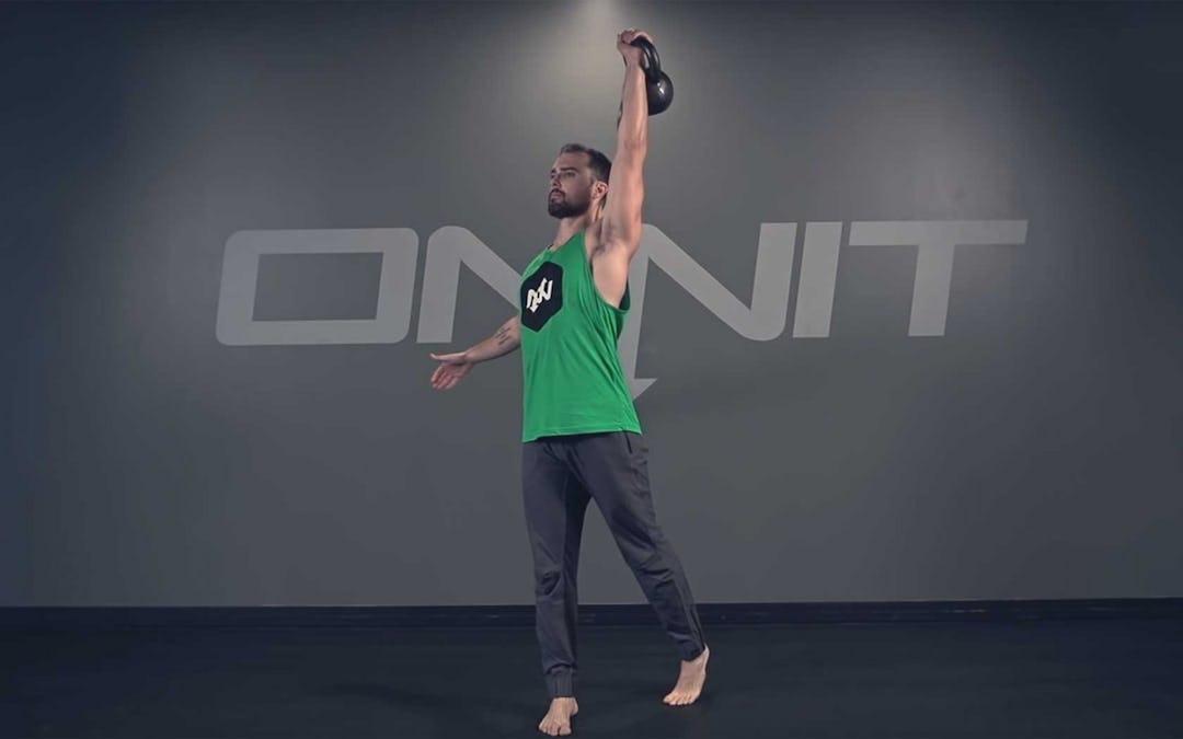 One Arm Rotational Kettlebell Press Exercise