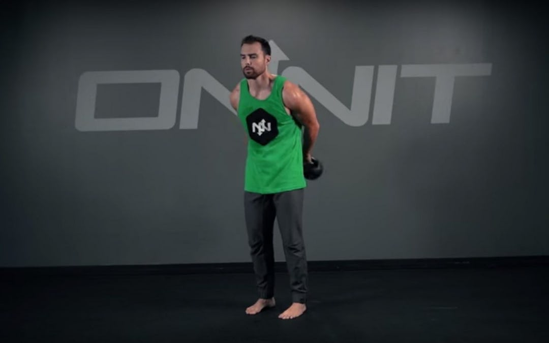 Kettlebell Around the Body to Straight Arm Hold Exercise
