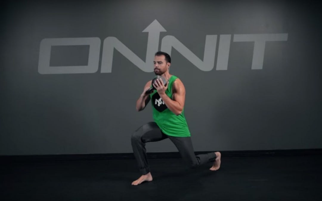 Kettlebell Figure 8 to Reverse Lunge Exercise