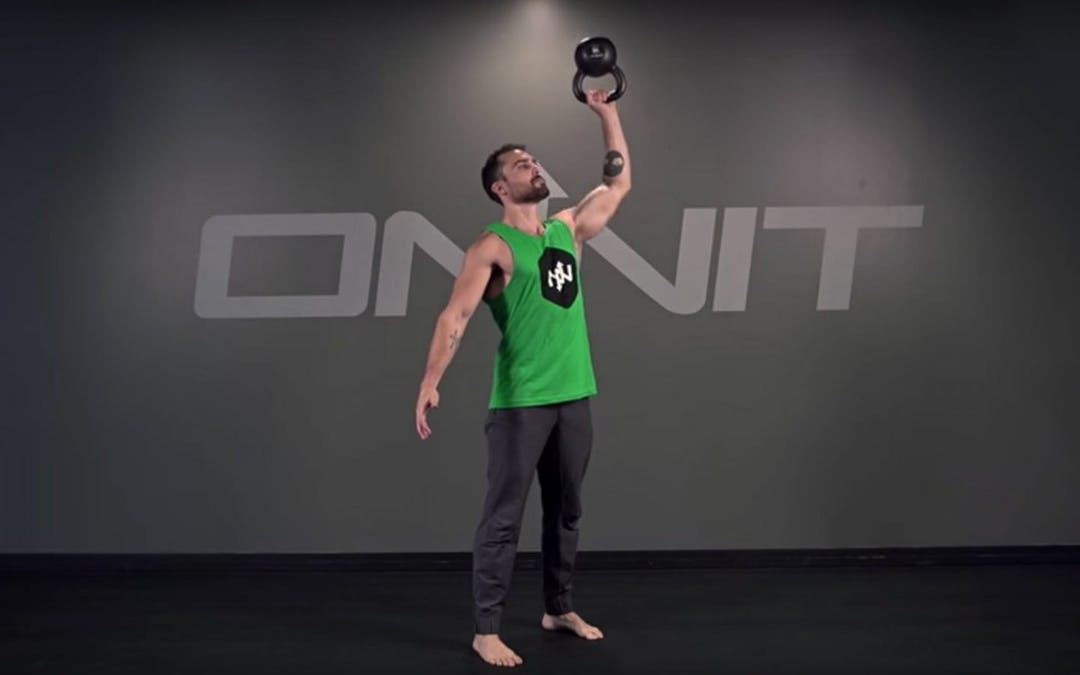 Kettlebell Bottom's Up Press Exercise