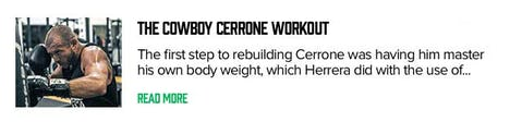 The Cowboy Cerrone Workout