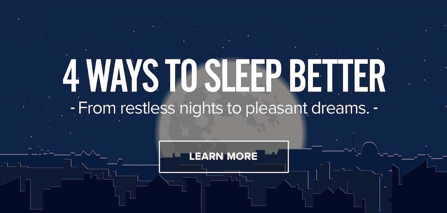 4 Ways To Sleep Better
