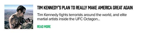 Tim Kennedy's Plan to Really Make America Great Again
