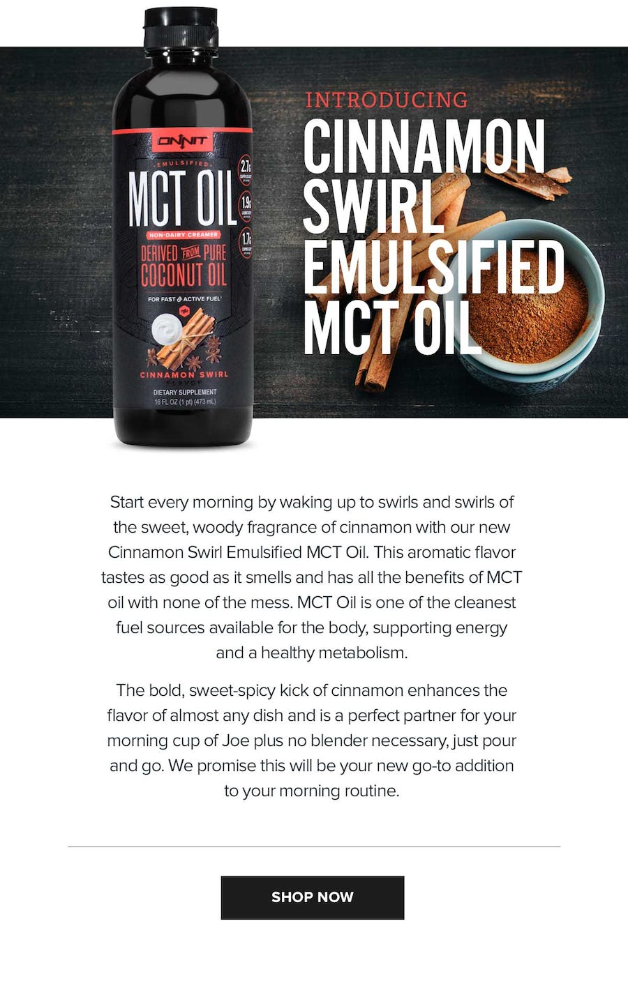 Introducing Cinnamon Swirl Emulsified MCT OIL Recipes