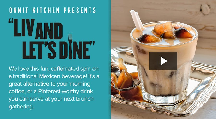 Horchata Recipe Over Cold Brew Ice Cubes