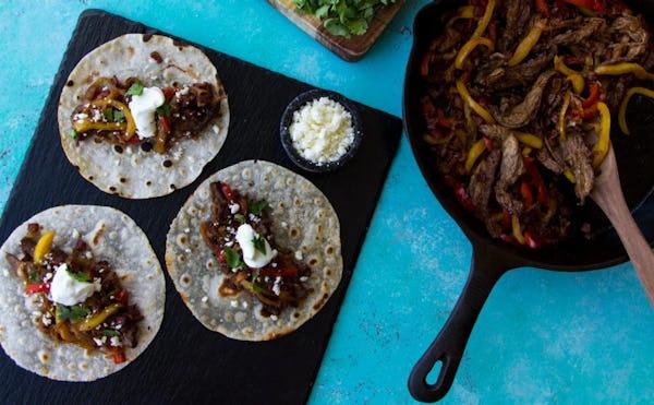 DINNER Elk Recipes: Elk & Steak Fajitas
