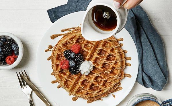 Maple Almond Belgian Waffles