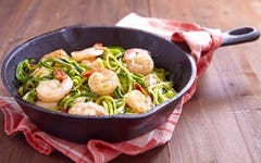 Shrimp and Zuchinni Noodles