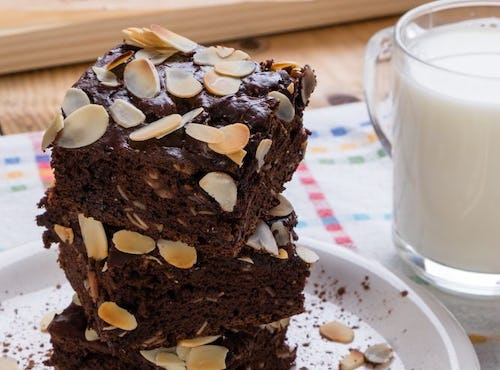 Salted Chocolate Almond Brownies