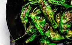 Blistered Spicy Shishito Peppers Recipe